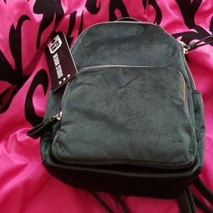 MMS Studio Emerald green velvet bookbag purse